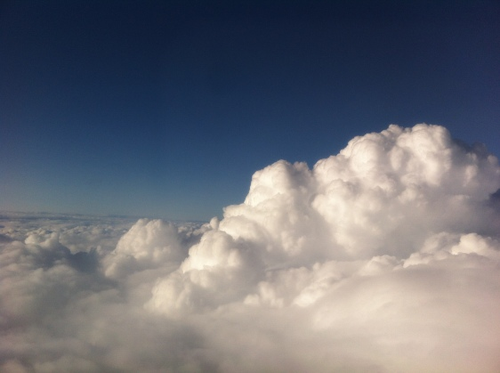 Up in the clouds - somewhere above France