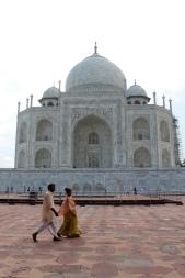Prayers leaving the Taj Mahal